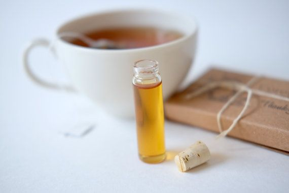 Tea favors. Organic tea and honey packaged in an eco-friendly custom box. Perfect Bridal Shower Gift. Set of 10.