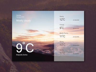 Freebie - Weather Widget Ui Design
