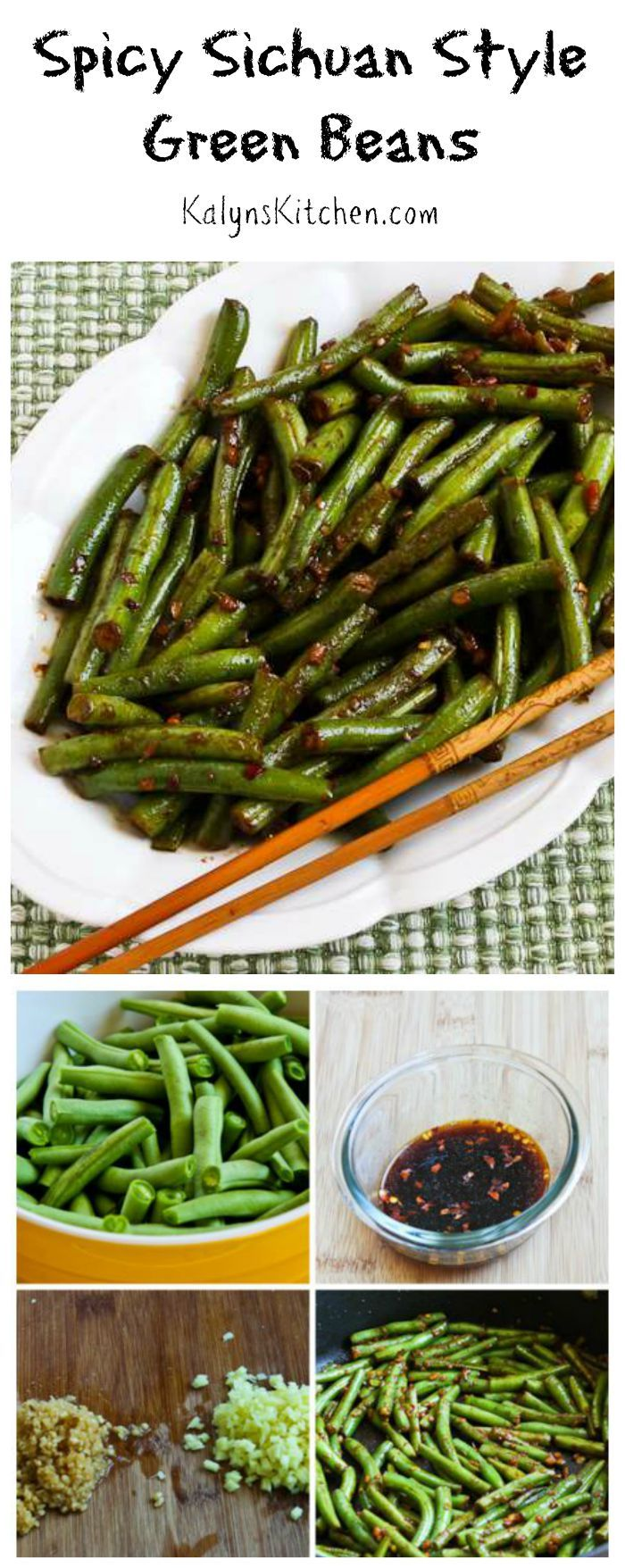 Spicy Sichuan Style Green Beans | Vegetables, Spicy green beans and ...