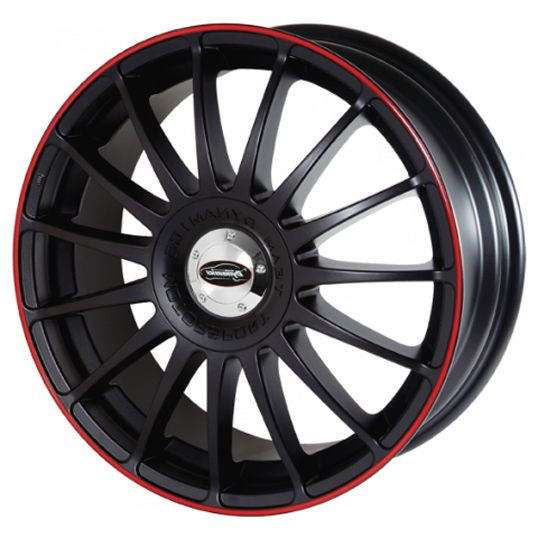 TEAM DYNAMICS MONZA RS SATIN BLACK RED alloy wheels with stunning look for 5 studd wheels in SATIN BLACK RED finish with 18 inch rim size