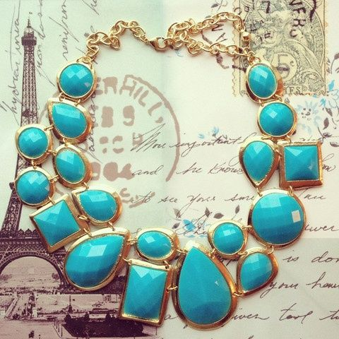 Diy Necklaces, Statement Necklaces, Style, Blue, Colors, Turquoise Necklace, Fashion Accessories, Bibs Necklaces, Chunky Necklaces