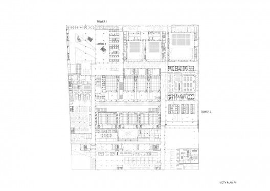 CCTV Headquarters, ground floor plan