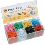 Marbig coloured Paper Clips Box 800