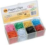 Marbig coloured Paper Clips Box 800