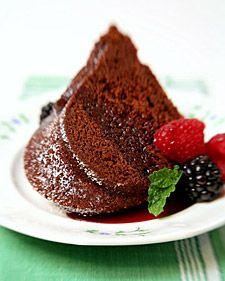 This rich chocolate wine cake recipe, provided by Margot Murdock Murphy, uses a Nordic Ware Fleur De Lis Bundt Pan.
