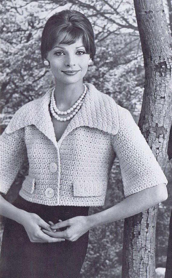 I have to say...this is a pretty darn cool bolero!  1950s crochet pattern available at VintagePatternPlace at etsy.com.