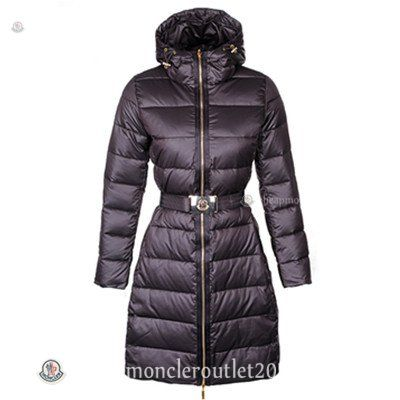 Womens Moncler Nates Long Down Coat in Coffee [Moncler #20141095] - $308.00  :