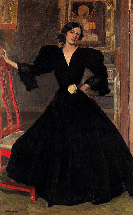 Joaquín Sorolla, Clotilde con traje negro, 1906. Óleo sobre lienzo, 186,7 x 118,7, Metropolitan Museum of Art, Nueva York