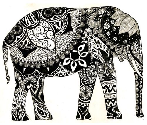 """Elephant"" canvas for my dream room"
