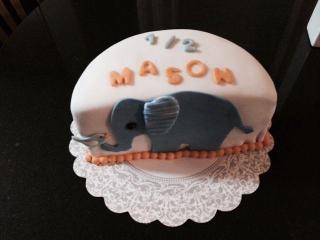 Mason S 6 Month Birthday Cakes Half Birthday Cakes Half