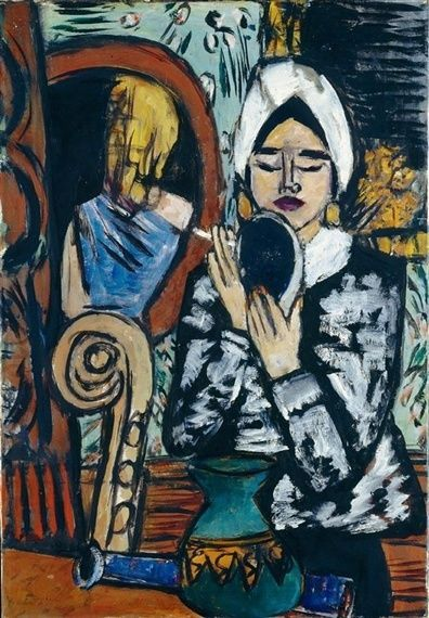 Max Beckmann - Lady with a Mirror 1943