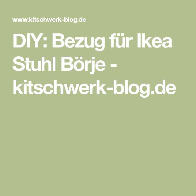DIY: Bezug für Ikea Stuhl Börje - kitschwerk-blog.de