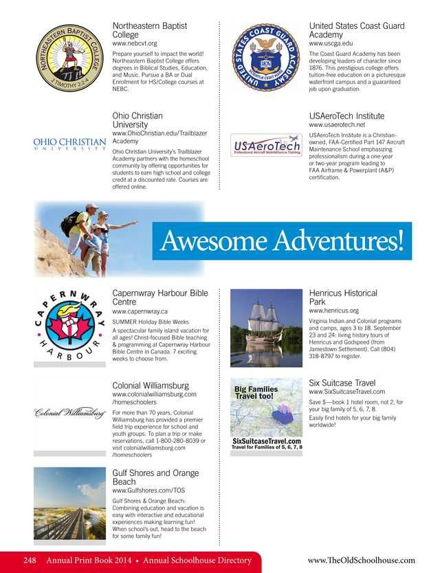 64 best directories images on pinterest homeschool awesome adventures the old schoolhouse magazine 2014 annual print book page 248 fandeluxe Image collections