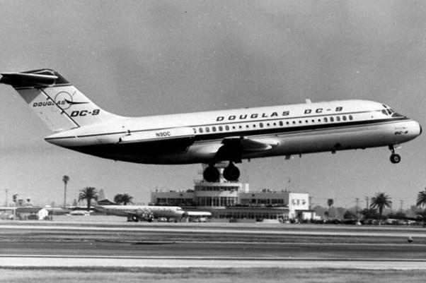 First flight of the Douglas DC-9, Feb. 25th, 1965.: Douglas Dc9