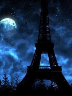 turnul eiffel noaptea - Natura-Peisaje - Poze pentru mobil