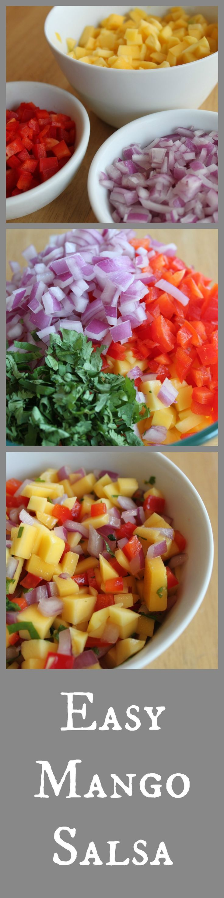 Easy Mango Salsa! mmm, on top on scrambled eggs?!= the best! add some avocado and it'll be even better!
