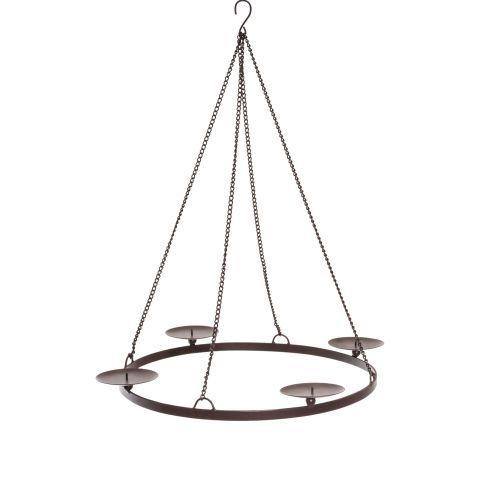 53 cm Adventskranz Simple zum Hängen Vorderansicht