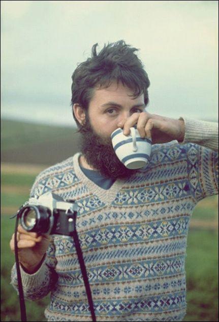 Paul McCartney with teacup