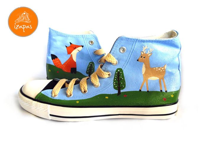 Still love these in my #etsy shop #Fox #Deer #Shoes #Boots #htlmp #HandPainted #woodland #custom #trainers #sneakers #personalised #handpainted #etsyshop #izapas #etsyseller #cute #fun #easter #original