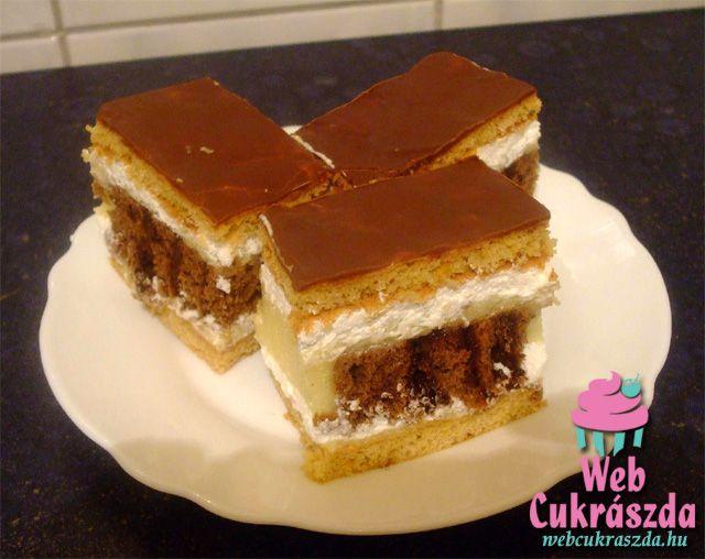 Csokis-mogyorós szelet