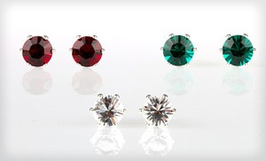 Groupon - Solitaire Stud Earrings Made with Swarovski Crystal Elements (Up to 95% Off). Three Options Available. Free Returns. in Online Deal. Groupon deal price: $5.00