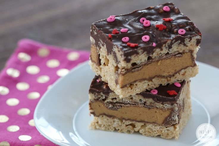 These Peanut Butter Cup Rice Krispies Treats take rice krispies treats ...