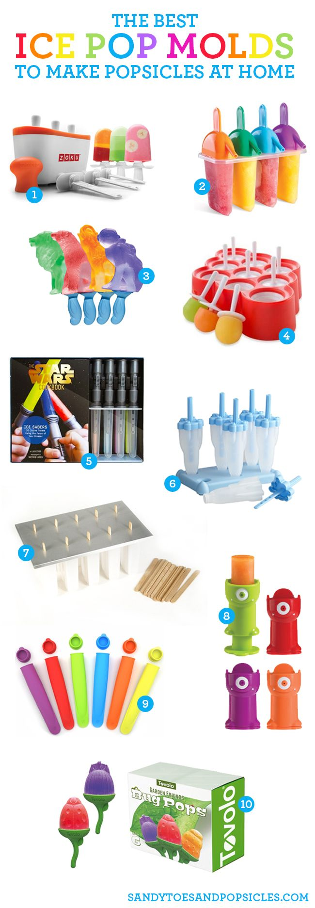 10 Great Ice Pop Molds for Maiking Homemade Popsicles - Popsicle Blog