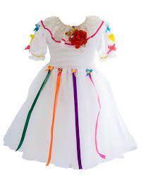 Resultado de imagem para vestido de festa junina noiva infantil