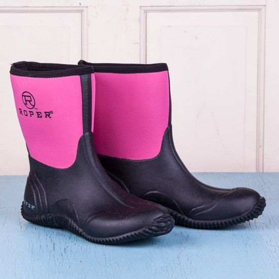 Roper Ladies' Pink Short Chore Boots