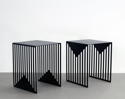 Zick Zack tables by Olga Bielawska, from Salone Satellite