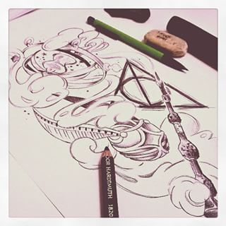 neo traditional harry potter - Google Search