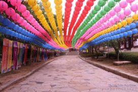 Lanterns at Tongdosa Temple