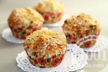 Куриные мини-кексы с сыром и зеленью: рецепт с пошаговым фото