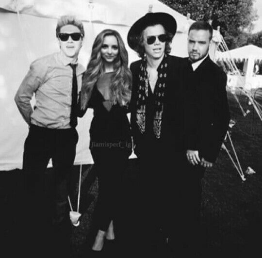 Niall Horan, Jade Thirlwall, Harry Styles and Liam Payne manip