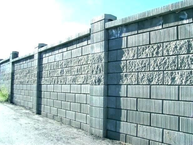 Google Image Result For Http Samanthamichelle Co Wp Content Uploads 2019 04 Cinder Block Wall Cost Fence Concrete Block Walls Cinder Block Walls Fence Design