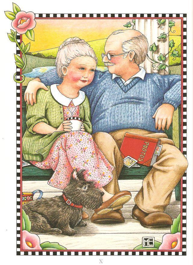 Картинки бабушек и дедушек прикольные