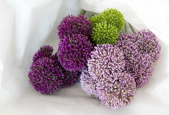 3x Pompom Flower Balls Artificial Flowers Fake Flowers Flower Ball Flower Care Fake Flowers