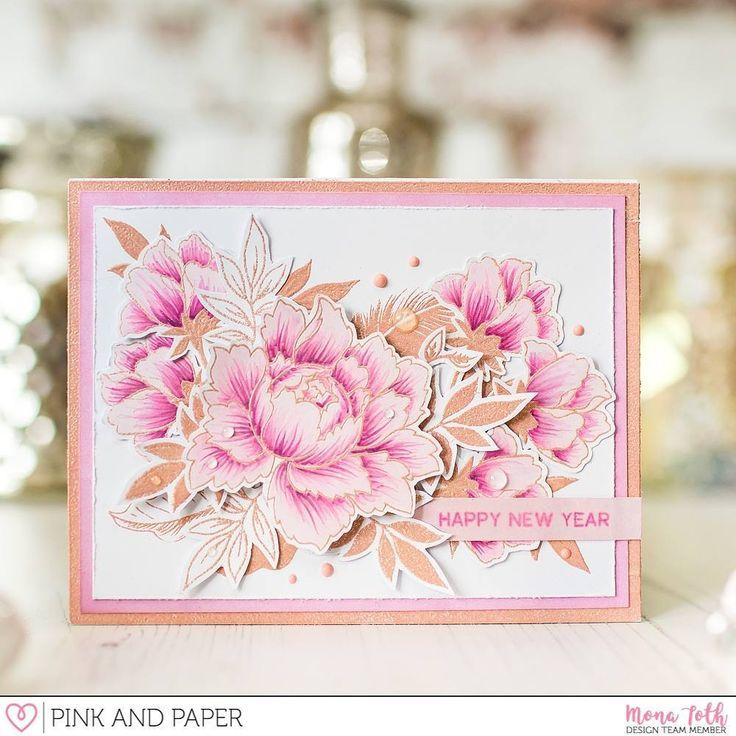 """111 kedvelés, 33 hozzászólás – Mona Tóth (@mona.toth) Instagram-hozzászólása: """"My 2nd card with @altenewllc #peonyboquet stamp set on the @pinkandpapershop blog! Link in profile!…"""""""