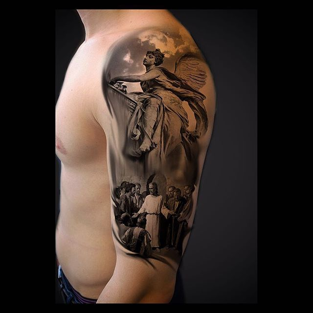 portrait tattoo angel tattoo pinterest angel. Black Bedroom Furniture Sets. Home Design Ideas