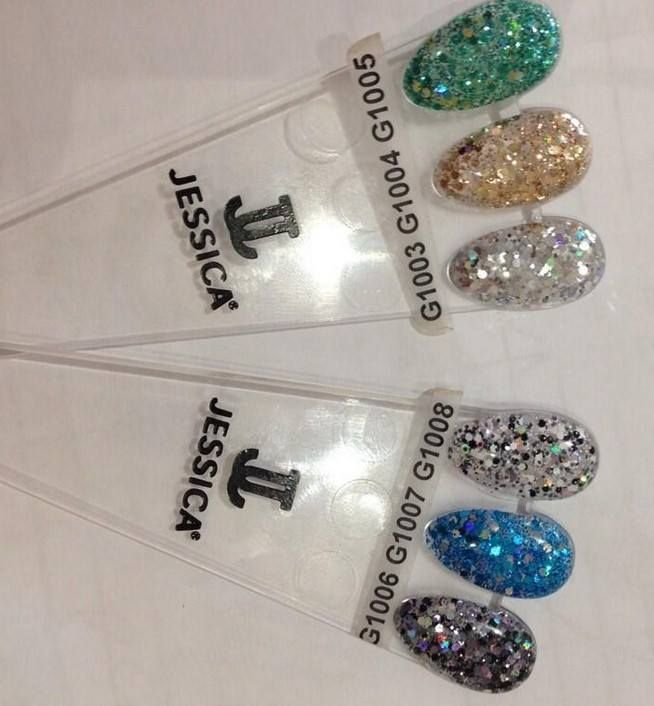 Jessica summer glitter nail polish collection