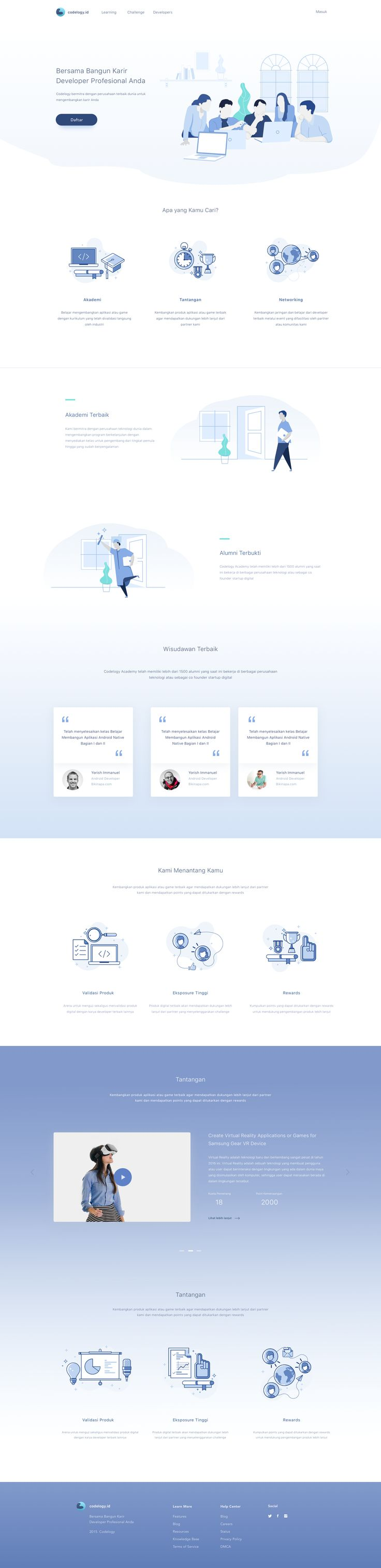 Education Platform Website - simple clean web page design