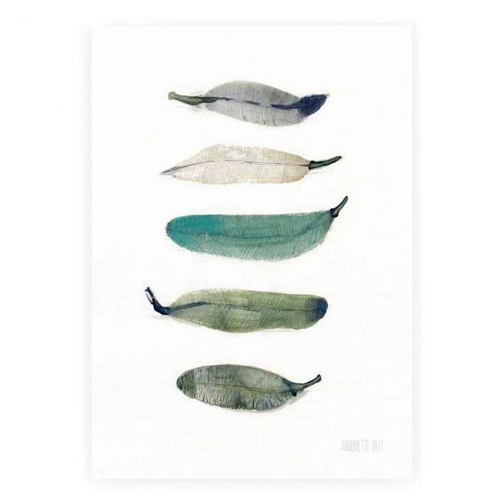 Feather No.274 – Green Affisch | The Clay Play | Länna Möbler | Handla online