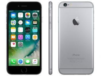 "iPhone 6 Apple 64GB Cinza Espacial 4G Tela 4.7"" - Retina Câmera 8MP iOS 10 Proc. M8"
