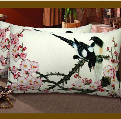 Цветочный узор подушка чехол 35 * 50 см высокое качество мультфильм наволочки чехол EHE14 * 1