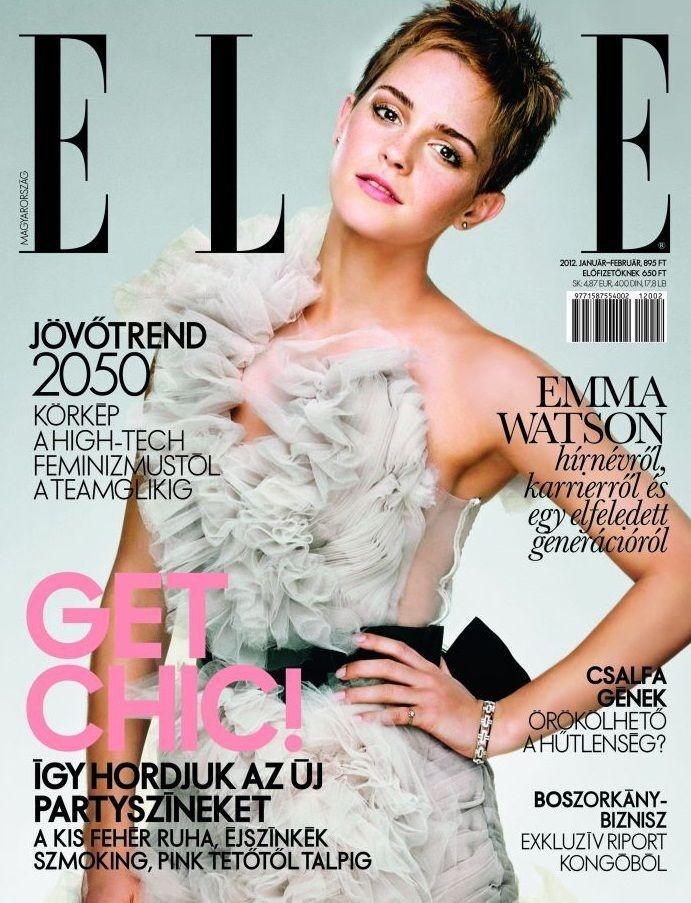 e2d6cce3fcfd Emma Watson for Vogue Hungary February 2012 | emma watson magazines covers  | Emma watson, Emma watson elle, Elle magazine
