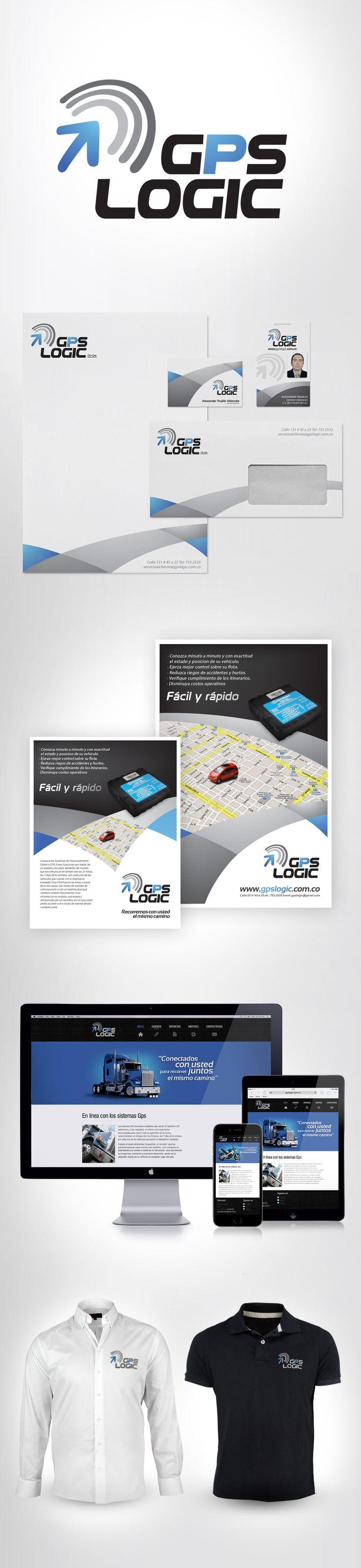 diseño de imagen Gps Logic #branding #graphicdesign