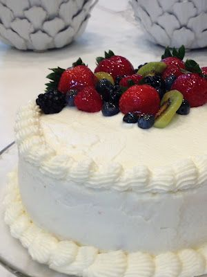 Chantilly Lace Cake via Whole Foods--my second favorite cake all time!