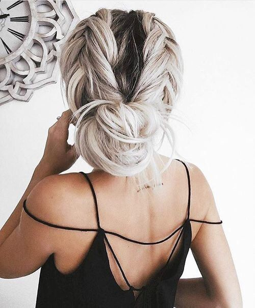 Tied Up Silver Braids