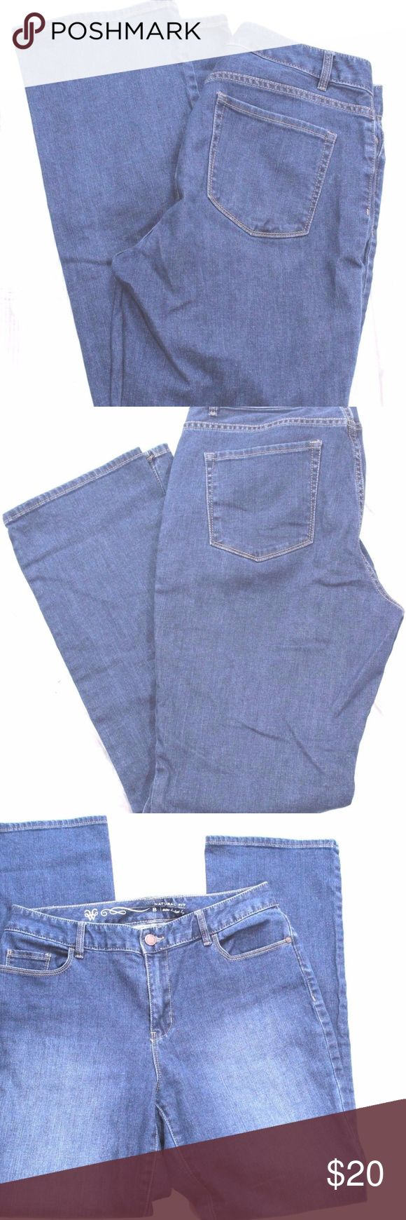 """Coldwater Creek Womens Jeans Size 8 Brand: Coldwater Creek Natural  Mini Boot Cut Size: 8 Color: Blue Condition: Good Preowned Item Specifics Material:Cotton Blend Waist:16"""" Hip: 19"""" Length: 42"""" Inseam: 31"""" Rise:10"""" Coldwater Creek Jeans Boot Cut"""