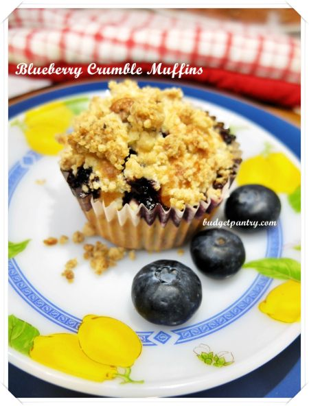 Blueberry Crumble Muffins | Delicious | Pinterest